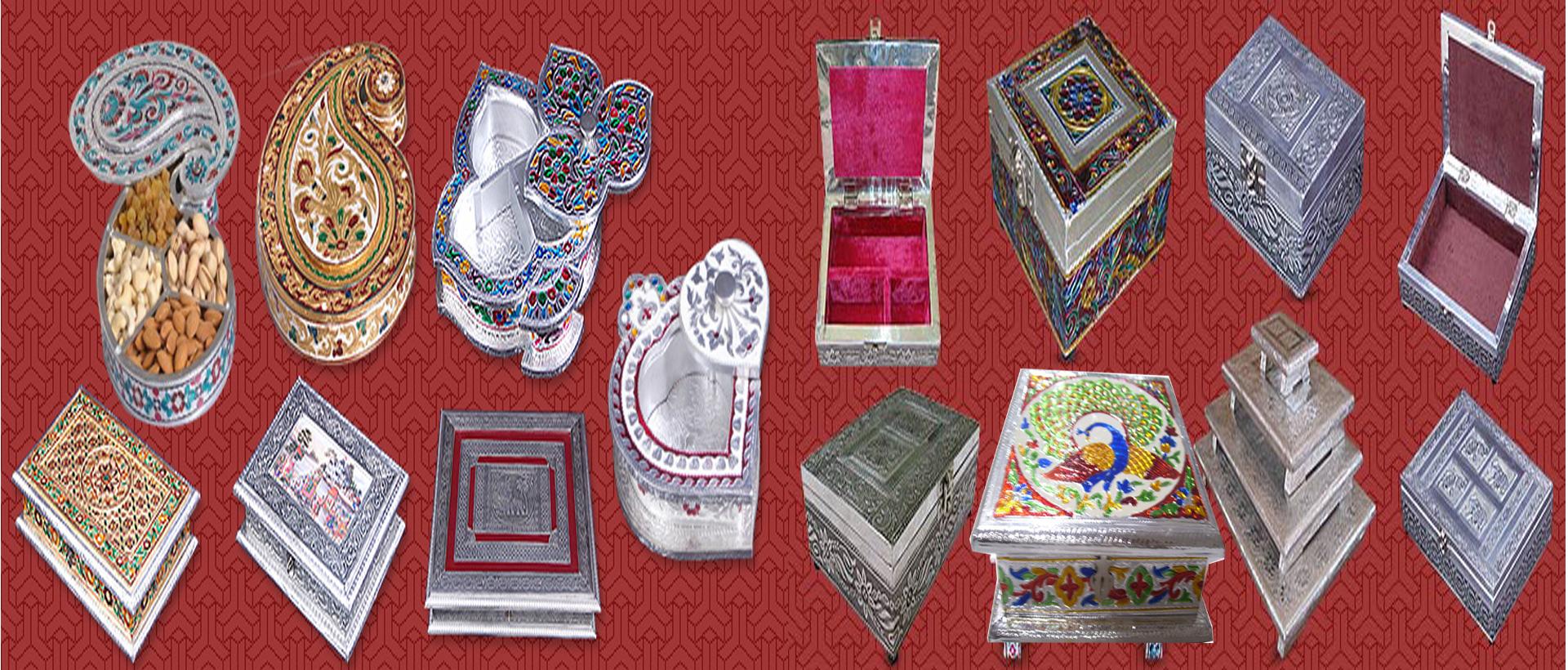 ALUMINIUM WOODEN GIFT BOXES